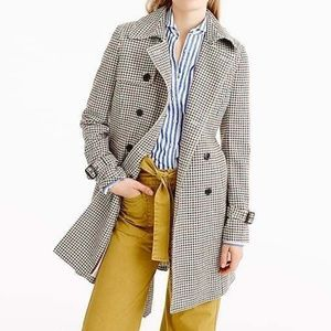 J. Crew Icon Trenchcoat Plaid Italian Wool size 14